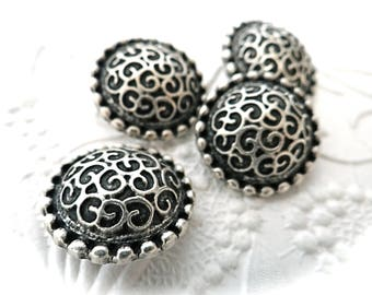 Pewter Renaissance Buttons Sewing Notions 4 Shoemaking Buttons BT-105