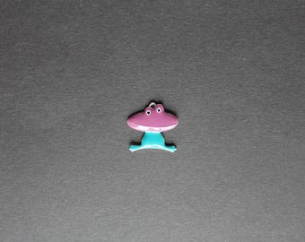 Frog charm / animals blue / purple