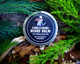 """Doctor Squirrel Grooming Co - Premium Conditioning Beard Balm """"SANDALWOOD"""" - All Natural NON GREASY - 2 ounce"""