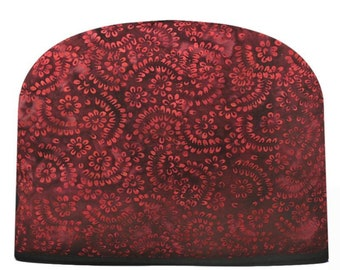 Red Batik Tea Cozy Double Insulated Teapot Tea Cozy