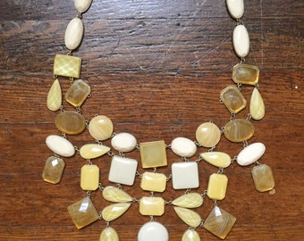 Oversized Beaded Chunky Necklace 1980's