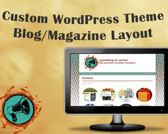 Custom WordPress Theme Template - Blog/Magazine Layout