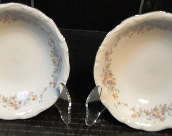"TWO Johann Haviland Floral Splendor Bavaria Berry Bowls 5"" Set of 2  EXCELLENT!"