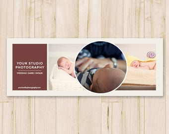 Facebook Cover Photo - Baby Photography Facebook Timeline Cover Photo, Fb Cover Template, Social Media - Photoshop PSD *INSTANT DOWNLOAD*