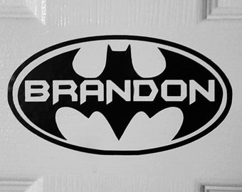 Custom Vinyl Superhero inspired Sticker! Permanent Indoor/Outdoor (great for car windows!) or Repositionable safe for walls. Choose size!