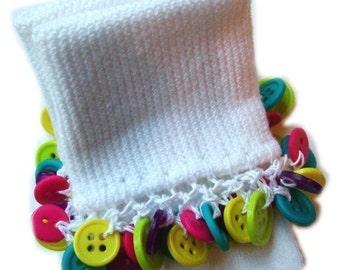 Kathy's Beaded Socks - Fun Button socks, summer socks, purple socks, pink socks, girls socks, button socks