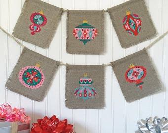 Christmas Baubles - set of seven charts - Satsuma Street modern cross stitch pattern PDF - Instant download