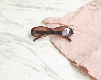 90s cat eye sunglasses | Oval cat eye sunglasses | Brown frame sunglasses | Brown glass sunglasses