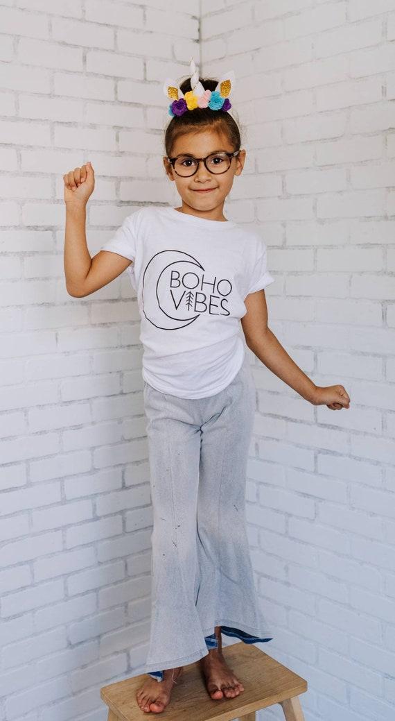 BOHO VIBES, Kid's Tee, Boho Tshirts