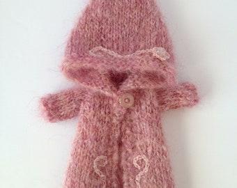pdf knitting pattern -Winter Warmer coat for Blythe