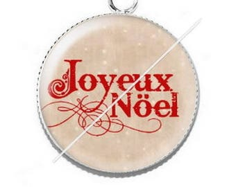 Pendant cabochon resin Merry Christmas happy holidays 26