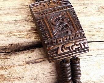 Jewelry BRACELET Tibetan buffalo bone bracelet carved Tibetan Buddhist jewelry, handmade ethnic ref OY1