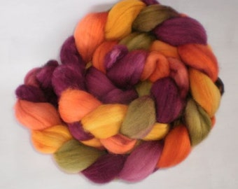 Merino wool roving- Fallen Leaves 100g