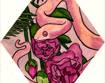 Carnations ORIGINAL Gouache Watercolor Painting