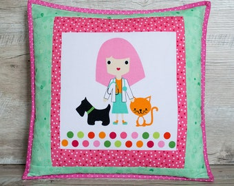 Kids pillow Nursery decorations for girl Pillow covers Pink pillow Girls room decor Granddaughter gift Girl room pillow Kids throw pillows
