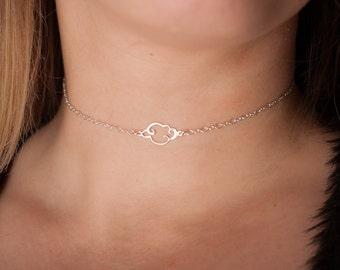 cloud choker necklace, cloud necklace, dainty cloud necklace, dainty gold choker, dainty silver choker, dainty chain choker