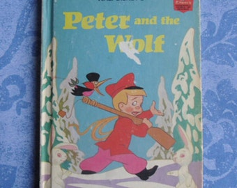 Vintage Children's Book - Peter and the Wolf, Disney's Wonderful World of Reading, Random House, Book Club Edition, 1974