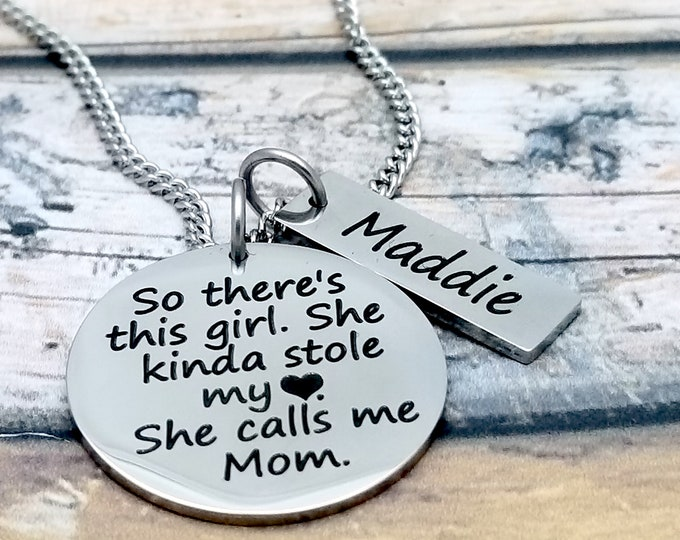 This Girl Stole My Heart Personalized Pendant Set