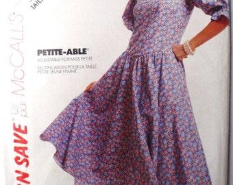 Women's Vintage Stitch N Save Sewing Pattern - Misses/Misses Petite Dress - McCall's 4281 - Sizes 12-14-16, Bust 34 - 38, Uncut