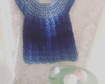 Blue ombre shell dress