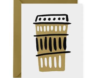 Coffee Mug A2 Greeting Card