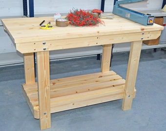 4FT Wooden Workbench  | Handmade | VERY STRONG & STURDY | Next Day Delivery | Top Quality!