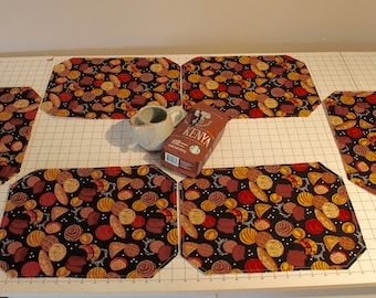 Reversible Pastry/Coffee Placemats (Set of 6)