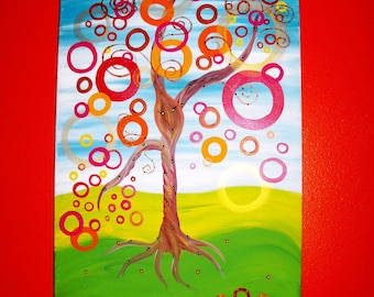 The Dancing Tree LARGE original acrylic