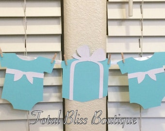 Baby & Co. Garland, Breakfast at Tiffany's Baby Shower Banner, Breakfast at Tiffany's Baby Shower Decorations, Stork and Co Decor