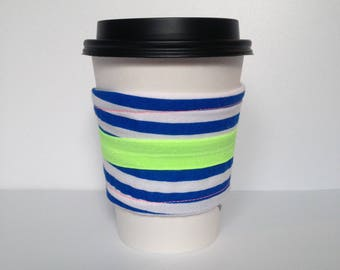 Blue Striped Drink Sleeve