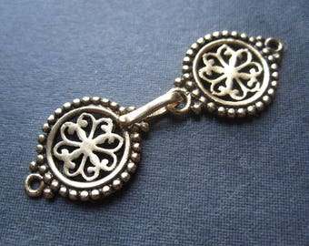 Light of India -  Solid Bronze hook and eye clasp - 44mm X 14mm