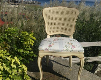 40% OFF NOW! French Louis XVI Chair Wicker Back & Floral Seat