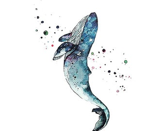 Whale Temporary Tattoos T101