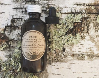 Organic Face Cleansing Oil | Herbal Deep Cleansing Oil | Unisex | Gentle Face Cleanser | Gentle Makeup Remover Oil | All Skin Types Cleanser