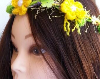Crochet halo headband
