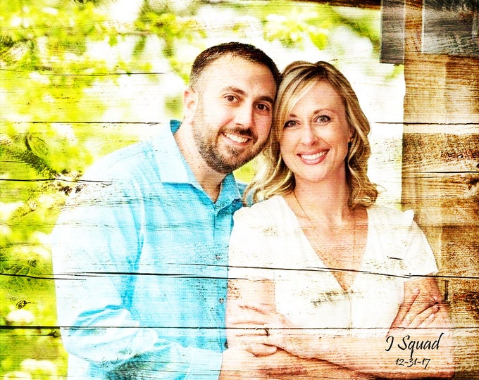 5th Anniversary Gift 5 Year Anniversary Wood Anniversary Photo On Wood Photo Gift Wedding Picture Gift Parents Anniversary Rustic 16x20