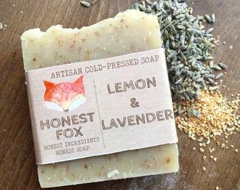 Lavender & Lemon all natural cold pressed soap