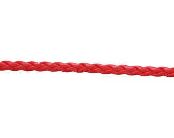 3 metre braided red leather cord