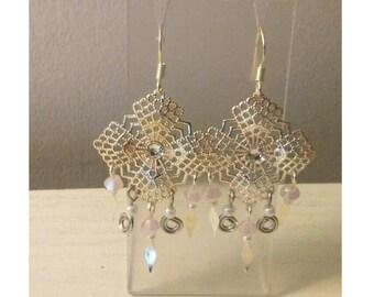 Pink Diamond Dust earrings