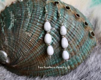Cherokee Tear Earrings - Native American Inspired - Corn Bead Earrings - Jobs Tears Earrings - Seed Earrings - Organic - Two Feathers