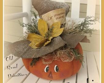 Primitive Pumpkin Pattern Lil' Punkin Patti Fall Halloween Country Bumpkin Pattern