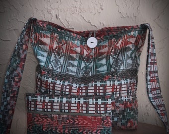 Cross body Purse with matching pouch
