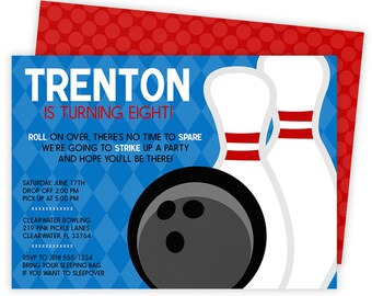 Bowling Party Invitation, Bowling Party, Bowling Invitation, Bowling Birthday Invitation, Bowling Invite, Bowling Birthday Party | 219