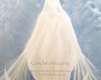 Blessed Mother Blank Greeting Cards Set of Two - Reproductions of Original Artwork - Free Shipping