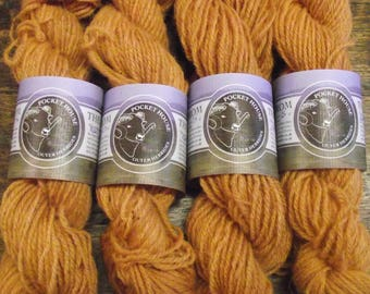Plant dyed wool yarn, 25g skeins