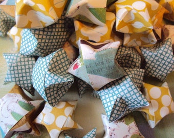 50 Origami Wishing Stars with Customizable Messages