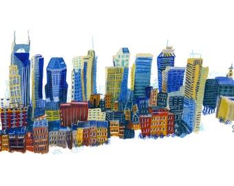 Nashville Skyline Print