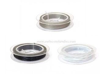 Wire - 10/50 / 100 m - silver/black/white - 0.45 mm