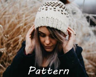 Aspen Peaks Hat- Crochet Pattern