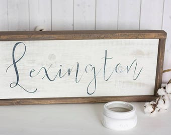 Rustic Nursery Decor - Name Sign For Nursery - Name Signs For Kids - Nursery Wall Art - Baby Shower Gift - Nursery Name Sign - First Name
